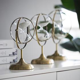 北欧风沙漏摆件创意轻奢金色小摆件室内家居房间布置计时器装饰