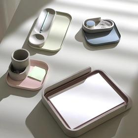 camino北欧风格设计品牌LUIS粉彩水泥文具笔筒文件架胶带台收纳卫浴梳妆收纳组合