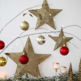 ins北欧风五角星圣诞挂饰创意节日装饰品圣诞场景布置室内挂件