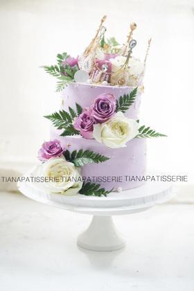 优雅 鲜花蛋糕