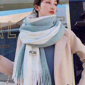 【围巾女秋冬季韩版】学生百搭仿羊绒厚ins保暖针织毛线围脖