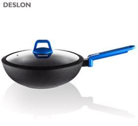 【锅具】德世朗铝合金不粘锅 炒锅 家用无油烟平底锅