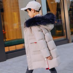 【儿童羽绒服】*.2019新款儿童羽绒服男童中长款冬装中大童白鸭绒加厚韩版外套潮 | 基础商品