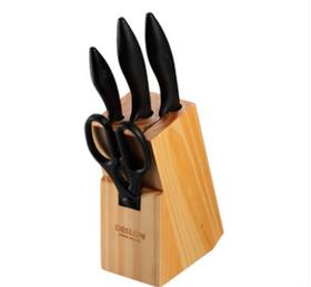 【刀具】德世朗不锈钢厨房刀具5件套 厨房菜刀水果刀套装