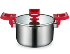 【锅具】德世朗304不锈钢双耳复底电磁炉明火通用汤锅