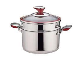 【锅具】蒸锅304不锈钢汤锅通用炖锅大容量加厚特高蒸锅