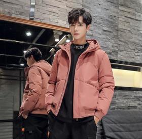 【羽绒服男】*韩版新款羽绒服男士短款加厚修身外套大码连帽休闲上衣男装潮 | 基础商品