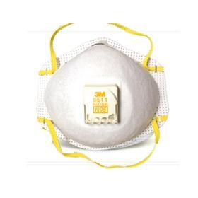 3M 8511带呼吸阀口罩(20个装)对沙尘暴、雾霾和PM2.5有良好的防护作用