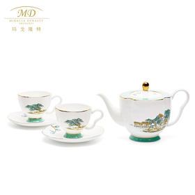 M20玛戈隆特6头莲蓬茶具套装西湖盛宴中国风骨瓷茶具