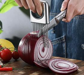【厨房配件】304不锈钢洋葱插针 洋葱固定切碎器 多功能嫩肉针