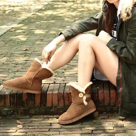澳洲原产进口UGG羊皮毛一体雪地靴   A+级美利奴羊毛皮手工制作冬日必备