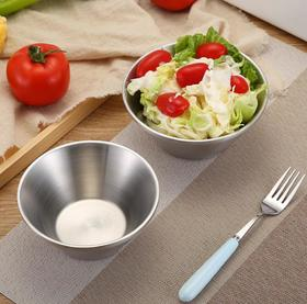 【餐具】304不锈钢双层隔热防烫碗 成人儿童加深加厚家用吃饭汤碗饭碗