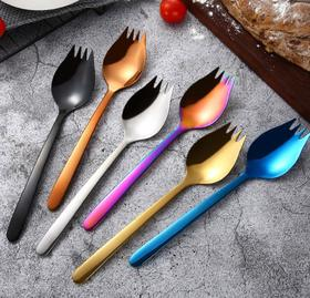 【餐具】304不锈钢吃面神器伊面勺创意叉勺