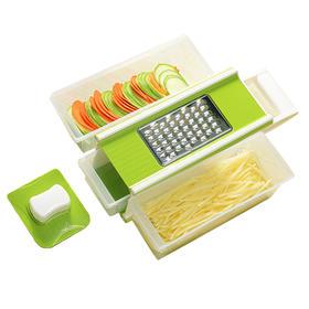 【精选】全新多功能切菜机 | 四面刀片 切菜刨丝 无所不能 | 单个装【日用家居】