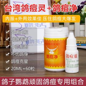 台湾鸽痘灵鸽豆净清克消速康一擦净疫苗鸽子鸽药信鸽赛鸽鹦鹉药品