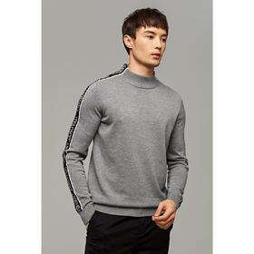 墨麦客男装2019冬季新款半高领毛衣男士长袖撞色提花针织衫男2076