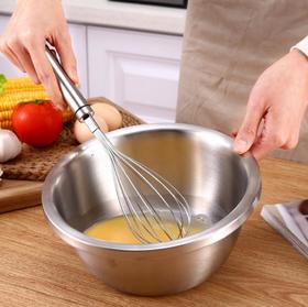 【厨房配件】304不锈钢打蛋器手动打蛋器手持家用鸡蛋搅拌器
