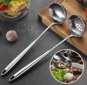 【厨房配件】304不锈钢火锅汤淋汁汤勺浇汁壳尖斜带嘴汤瓢