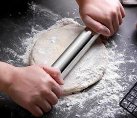 【厨房配件】304不锈钢擀面杖 饺子皮压棍 面包杆面棍滚轴擀面条棒