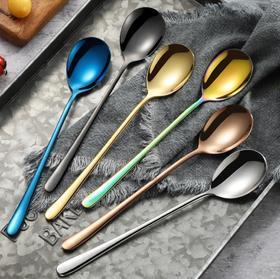 【餐具】创意304不锈钢长柄家用可爱韩式小汤匙