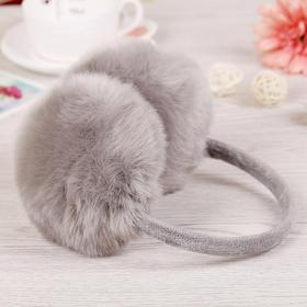 冬季仿兔毛后罩耳套 - 柔然舒适,防风保暖,男女老少通用