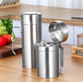 【厨房配件】304不锈钢欧式油壶防漏油瓶大容量油罐