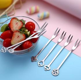 【餐具】不锈钢304水果叉套装 热销水果叉礼盒装