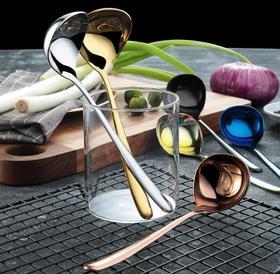 【餐具】汤勺不锈钢304酱汁勺多用加深公用勺创意款大头长柄调羹韩式汤匙