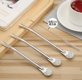 【餐具】热销吸管304不锈钢吸管勺咖啡勺 过滤器防滑防滑