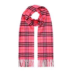 【寺库专供】Burberry 巴宝莉 女士粉色格子羊绒围巾 4080014