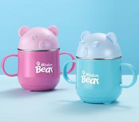 【餐具】304不锈钢口杯 带耳儿童杯子