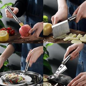 【厨房配件】薯条切片小工具304不锈钢提盘器厨房小工具