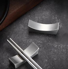 【餐具】筷子架不锈钢304筷子托筷枕酒店餐馆摆台创意家用餐具