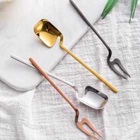 【餐具】304不锈钢咖啡勺水果叉雪糕勺调羹个性创意搅拌勺子