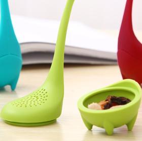 【厨房配件】新款水怪硅胶滤茶器速卖通茶漏泡茶器