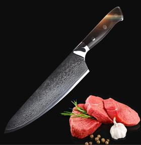 【刀具】大马士革厨刀切片家用切菜刀切肉刀厨师刀不锈钢小切片