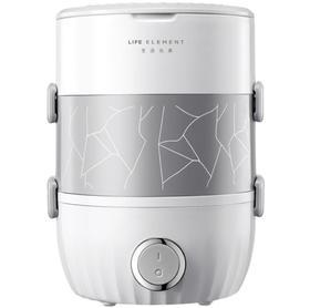 【电器】抽真空电热饭盒 不锈钢插电保温蒸煮电饭盒加热双层饭盒
