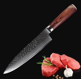 【刀具】大马士革钢8寸主厨刀切肉刀切片刀多用刀切鱼刀厨房菜刀