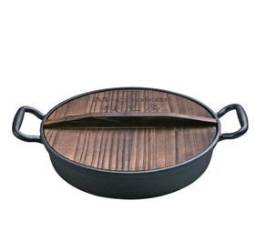 【锅具】铸铁平底锅不粘煎锅家用无涂层煎饼锅30cm生铁烙饼手抓饼锅