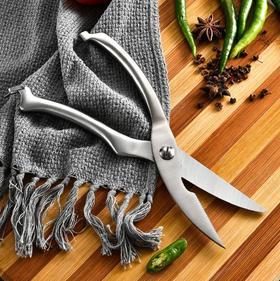 【厨房配件】厨房工具多功能鸡骨剪刀 不锈钢家用鸡鹅鱼骨剪自动回弹剪刀
