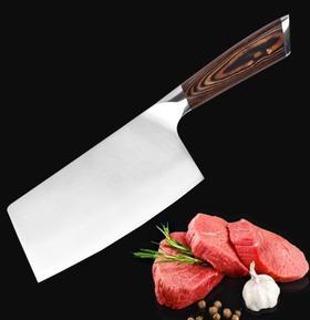 【刀具】大马士革菜刀厨房家用厨师刀切片刀切肉刀菜刀