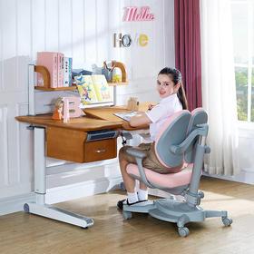 优沃儿童实木学习桌儿童写字桌椅组合套装小学生书桌可升降课桌椅家用
