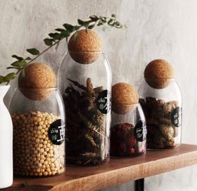 【厨房配件】厨房食品储物罐透明玻璃密封罐杂粮茶叶罐子