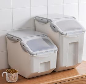 【厨房配件】家用米箱日式密封米桶防潮防虫塑料15kg杂粮储米面桶10kg