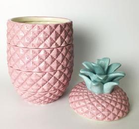 【厨房配件】个性家居创意陶瓷菠萝储物罐饼干红茶糖果陶瓷罐