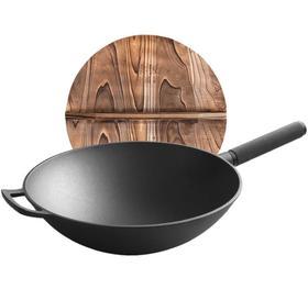 【锅具】生铁锅炒锅不生锈33cm老式家用铸铁锅加厚圆底炒菜锅不粘锅