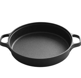 【锅具】烙饼锅家用铸铁老式平底煎锅30cm煎蛋牛排通用无涂层不粘锅