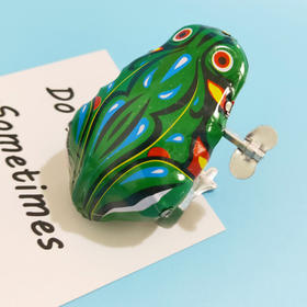 【默发赠品】铁皮青蛙 怀旧发条玩具