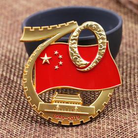 【官方授权】中华人民共和国成立70周年阅兵仪式标志徽章