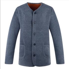 【清仓特价 不退不换】PDD-HFQ1108新款男士保暖开衫加绒加厚纯棉秋衣秋裤TZF